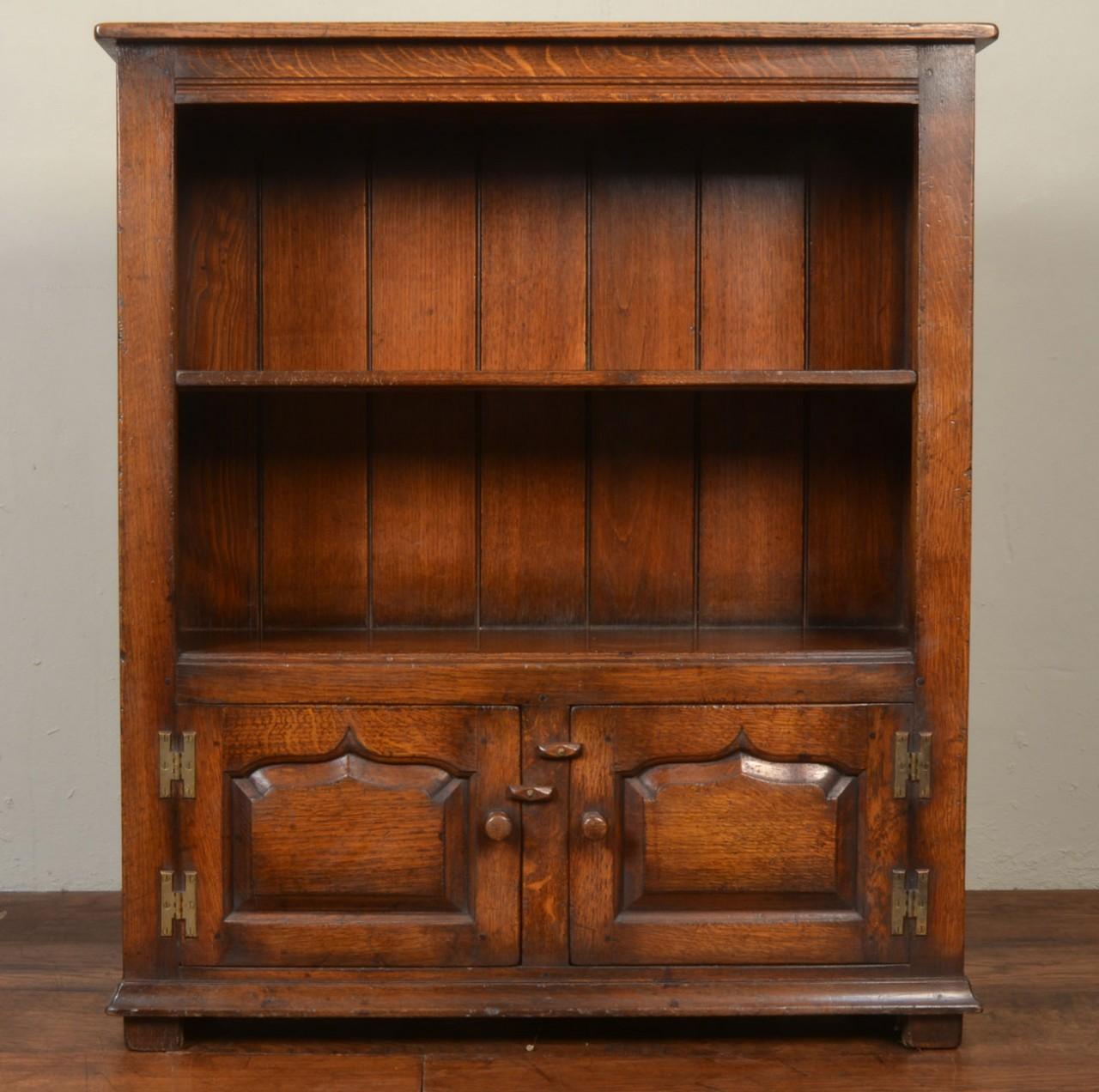 Solid Oak Open Bookcase Circa 1930