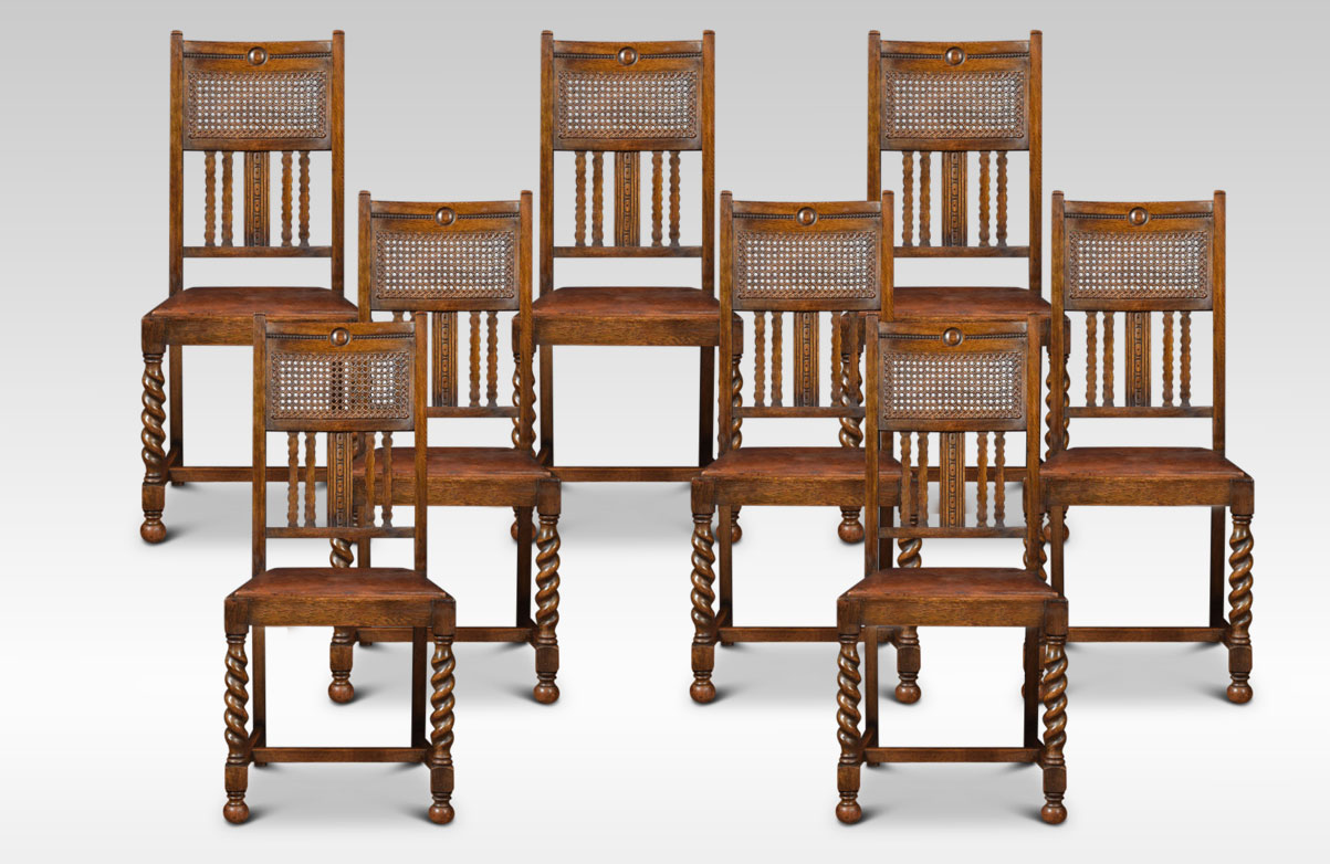 Strange Set Of Eight Oak High Back Dining Chairs Alphanode Cool Chair Designs And Ideas Alphanodeonline